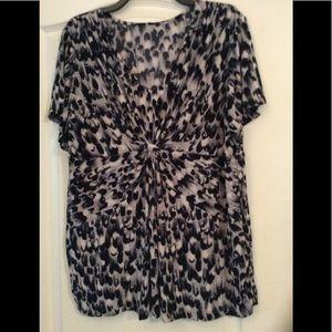 Gray/Multi color women top plus size 1X(2/$16)